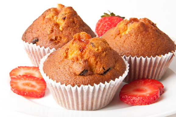 Muffin anche d'estate (muffin alle fragole)