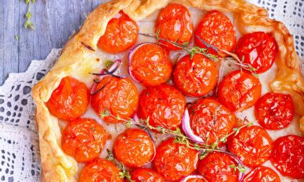 Quiche con pomodorini e cipolla