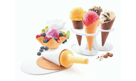 Kit forma cono e cialda gelato