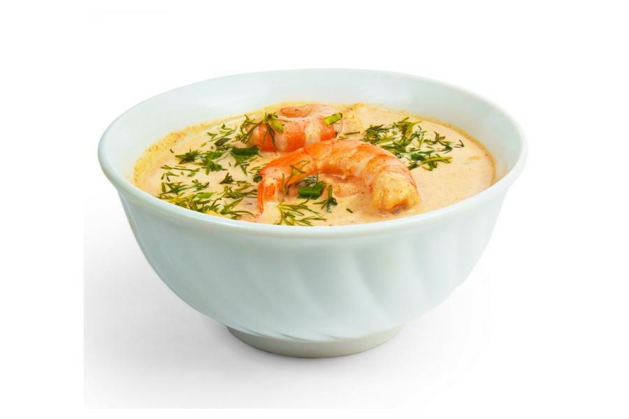 Zuppa di gamberetti alla certosina