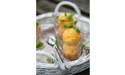 Yogurt gelato al mango e zenzero
