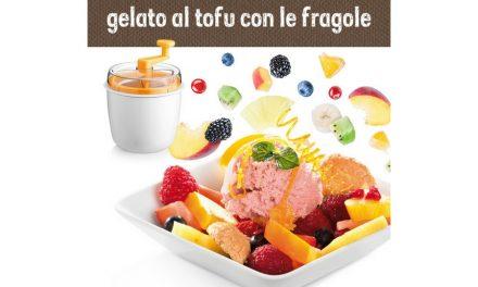Gelato al tofu con le fragole