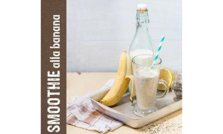 Smoothie energizzante alla banana e semi di papavero