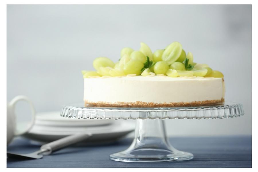 Cheesecake all'uva bianca