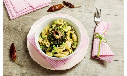 Conchiglie broccoli e acciughe