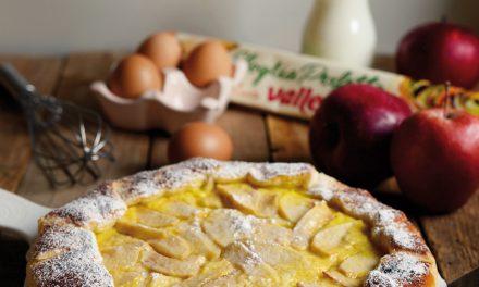Gallette con crema, mele e cannella